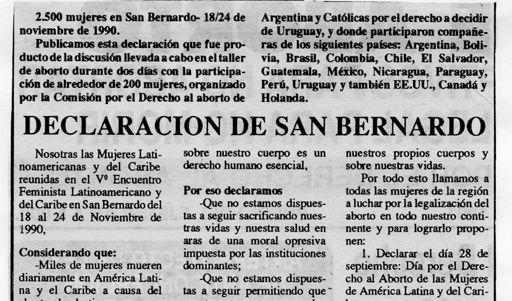 1990 - Decaración San Bernardo