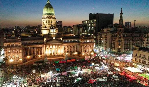 28 de mayo de 2019 Pañuelazo frente al Congreso de la Nación