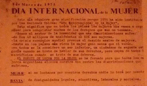 """8 de Marzo de 1975 - La Organización de las Naciones Unidas declara el """"Año Internacional de la Mujer"""" y la """"Década de la Mujer"""""""